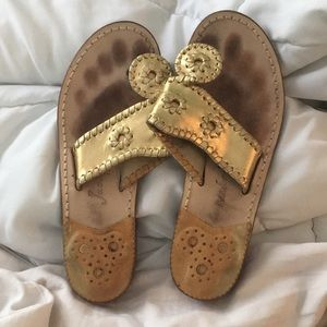 Gold jack Rogers size 5.5